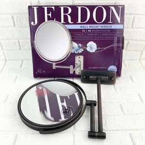Jerdon 8-Inch Wall Mount Makeup Mirror with 5x Mag